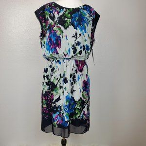 Karin Stevens Size 14 Women's Floral Dress Blue